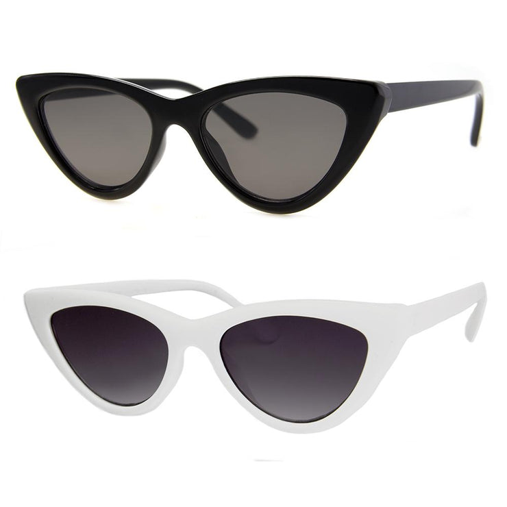 2 PC SUNGLASS BUNDLE - NAUGHTY - BLACK, WHITE
