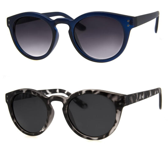 2 PC SUNGLASS BUNDLE - BROKER - DARK BLUE, GREY TORT