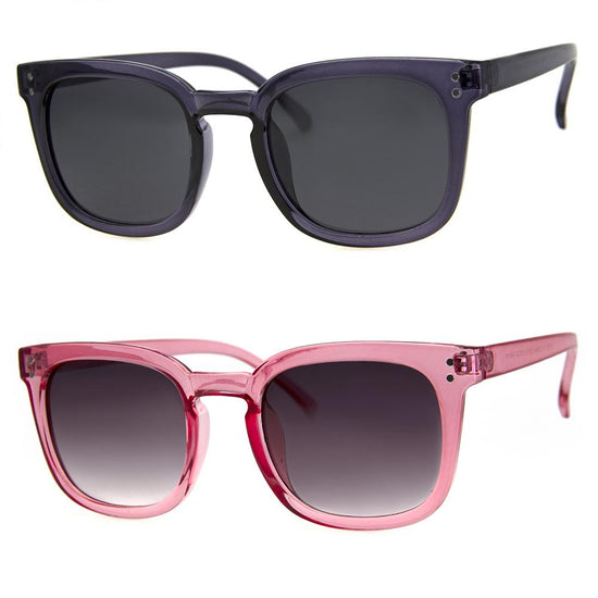 2 PC SUNGLASS BUNDLE - PRESENCE - BLUE, PINK