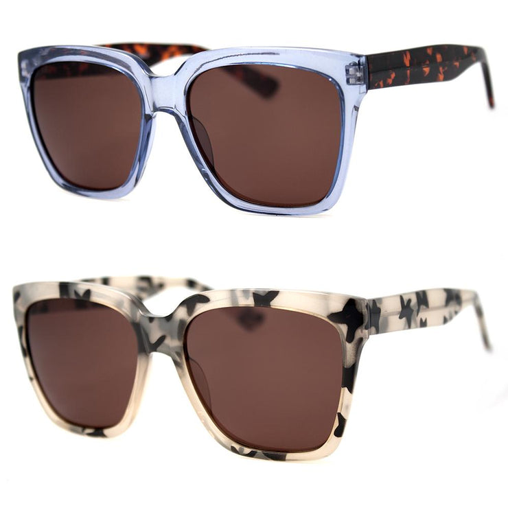 2 PC SUNGLASS BUNDLE - VROOM - LT.BLUE, LEOPARD