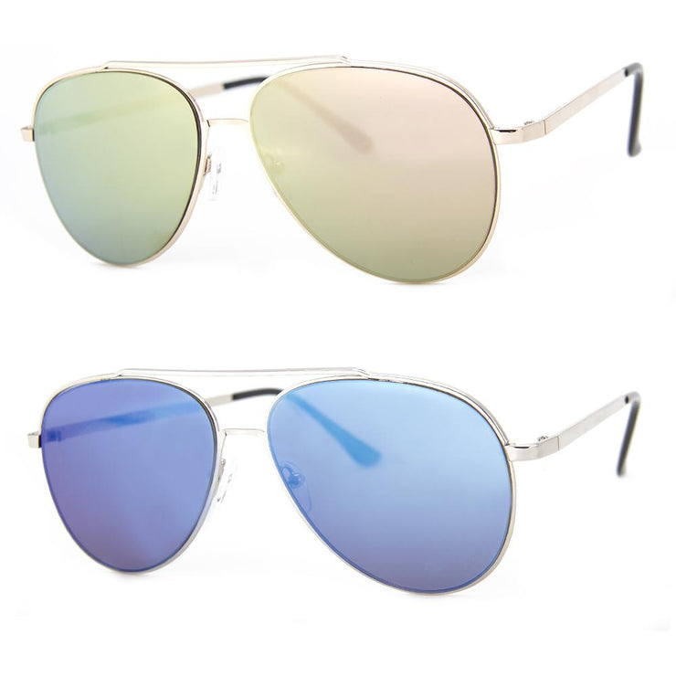 2 PC SUNGLASS BUNDLE - LIGHT BRIGADE - PINK MIRROR, BLUE MIRROR