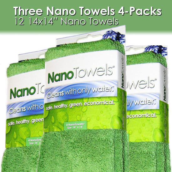 Nano Towels® 3‐Pack 14x14 (Nano Green)