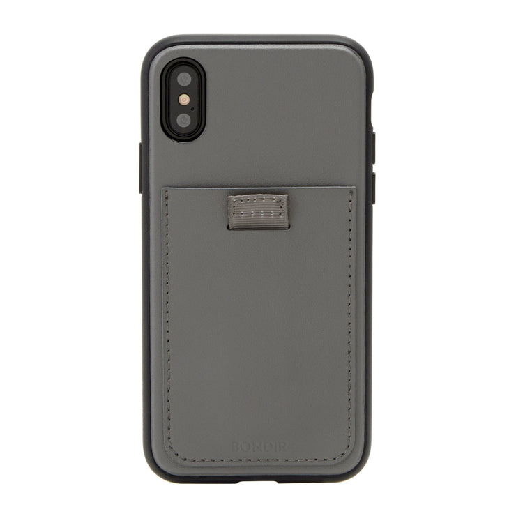 Gray Leather Wallet Case, iPhone XS Max