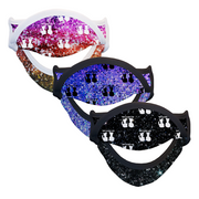 BOY MEETS GIRL® Sparkle Illusion Print Drinking Mask 3-Pack