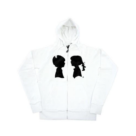 BOY MEETS GIRL® Personalized White Coco Hoodie