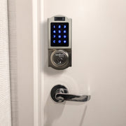 BenjiLock by Hampton Fingerprint Deadbolt, Satin Nickel