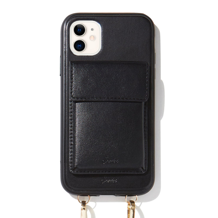 Tres Case Crossbody - Black, iPhone (11 / XR)