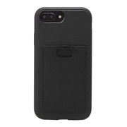 Black Leather Wallet Case, iPhone 8/7/6 Plus