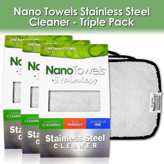 Nano Towels® Stainless Steel Cleaner [3‐pks of 1 Grey]