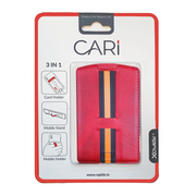 CARI Universal 3 in 1 Phone Wallet with Card Holder, Stand, and Strap