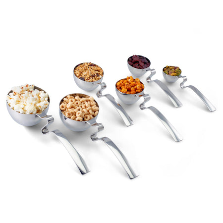 Livliga LivSpoons Portion Control Serving Spoons, Set of 6, in Stainless Steel