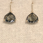Crystal Drop Earring Charcoal/Gold
