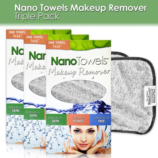 Nano Towels® Makeup Remover [3‐pks of 1 Grey]