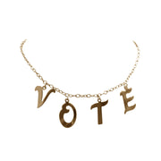 Gold Maxi Vote Necklace