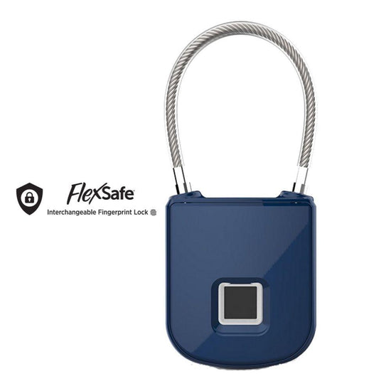 FlexSafe Biometric Fingerprint Lock with Interchangeable Cables