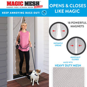 Magic Mesh Hands-Free Screen Door White Deluxe - 1 pack