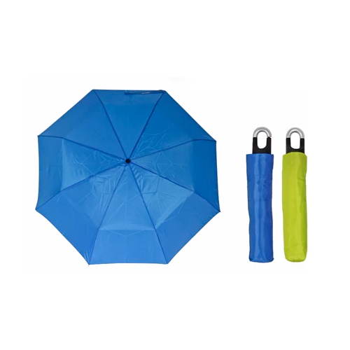 Misty Harbor 3 Section Clip Handle Umbrella Electric Blue