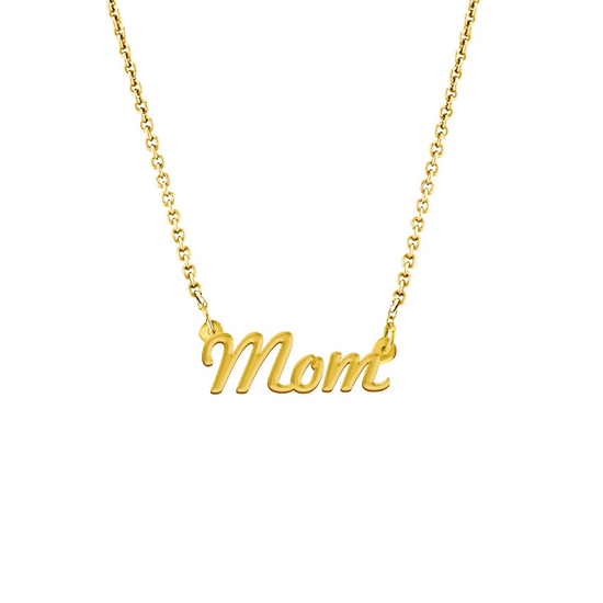 Mom Script Necklace