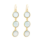 Peru Chalcedony Alchemy Drop Gemstone Earrings