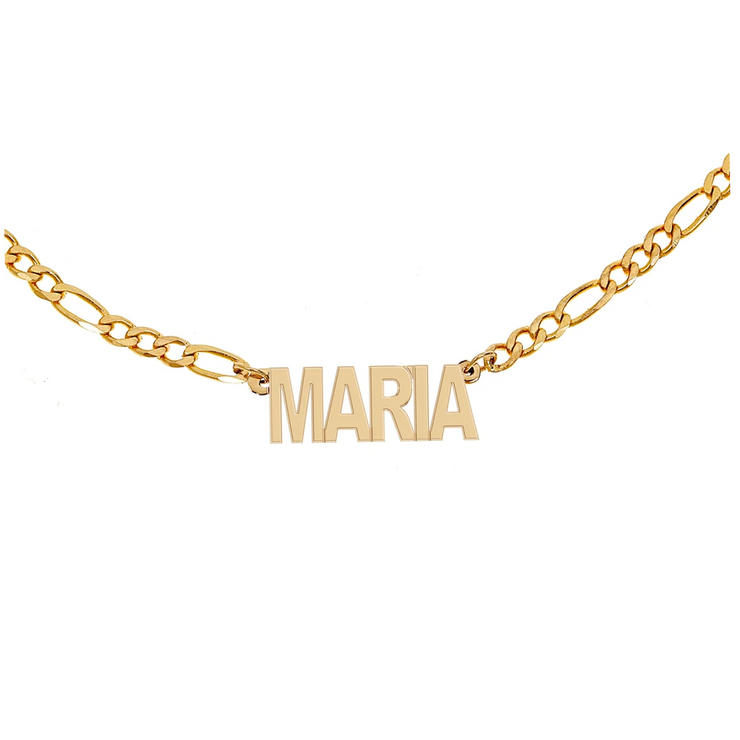 Personalized Figaro Chain Name Necklace