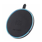 Premium Qi Certified Faux Leather Wireless Charging Pad - 10W Rapid Charge