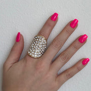 Red Carpet Oval Stretch Ring