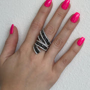 Red Carpet Ribbon Stretch Ring