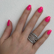 Red Carpet Wavy Line Stretch Ring