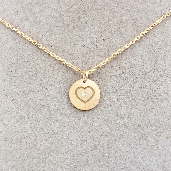 Single Diamond Heart Necklace