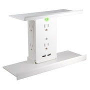 Socket Shelf Deluxe® By Sharper Image® - Add A Shelf & 8-Port Surge Protector To Any Outlet