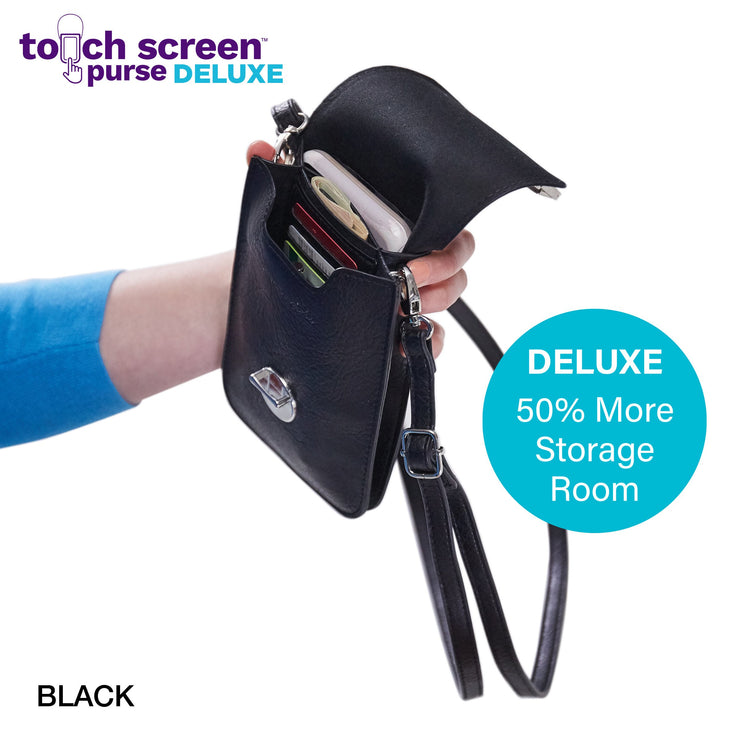 Touch Screen™ Purse Deluxe Black - Use Your Phone While Keeping It Safe And Protected!