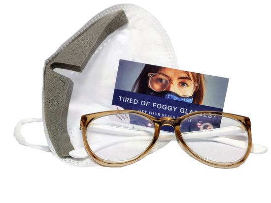 SEALS: The Solution to Foggy Glasses (2 x microfiber masks + 3x anti-fog SEALS)