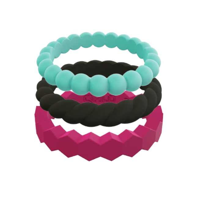 Women's Bold Stackable Set Silicone Rings