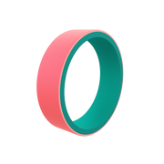 Women's Switch Reversible Emerald & Coral Silicone Ring