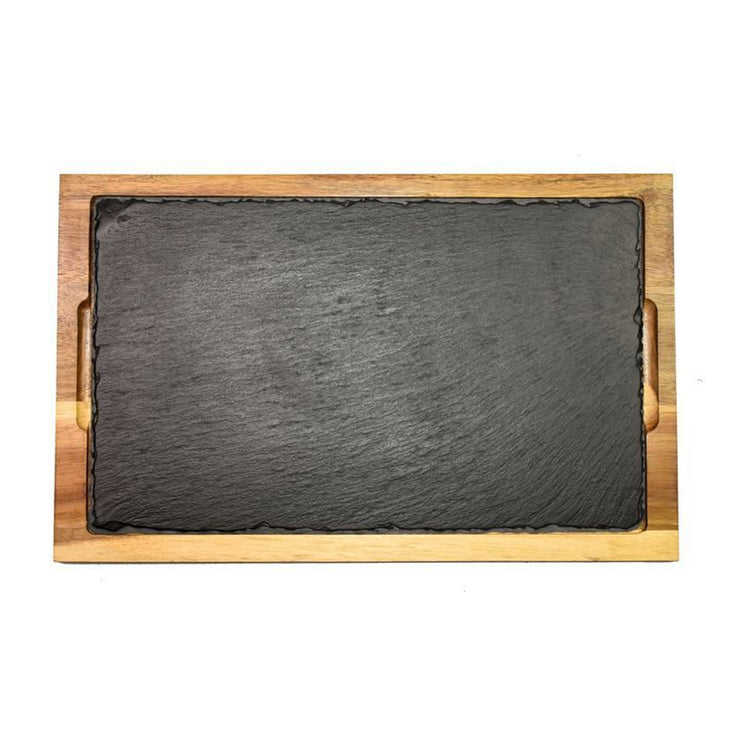 "Wooden Tray Serving Slate - 12"" x 18"""