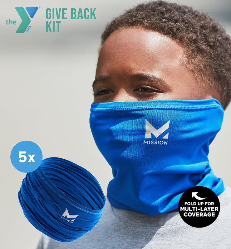 YMCA GIVE BACK KIT | 5-PACK YOUTH CLASSIC 6-IN-1 GAITER | BLUE