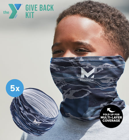 YMCA GIVE BACK KIT | 5-PACK YOUTH CLASSIC 6-IN-1 GAITER | MATRIX CAMO