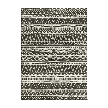 Chelsea Tribal Aztec Dark Grey Washable Rug