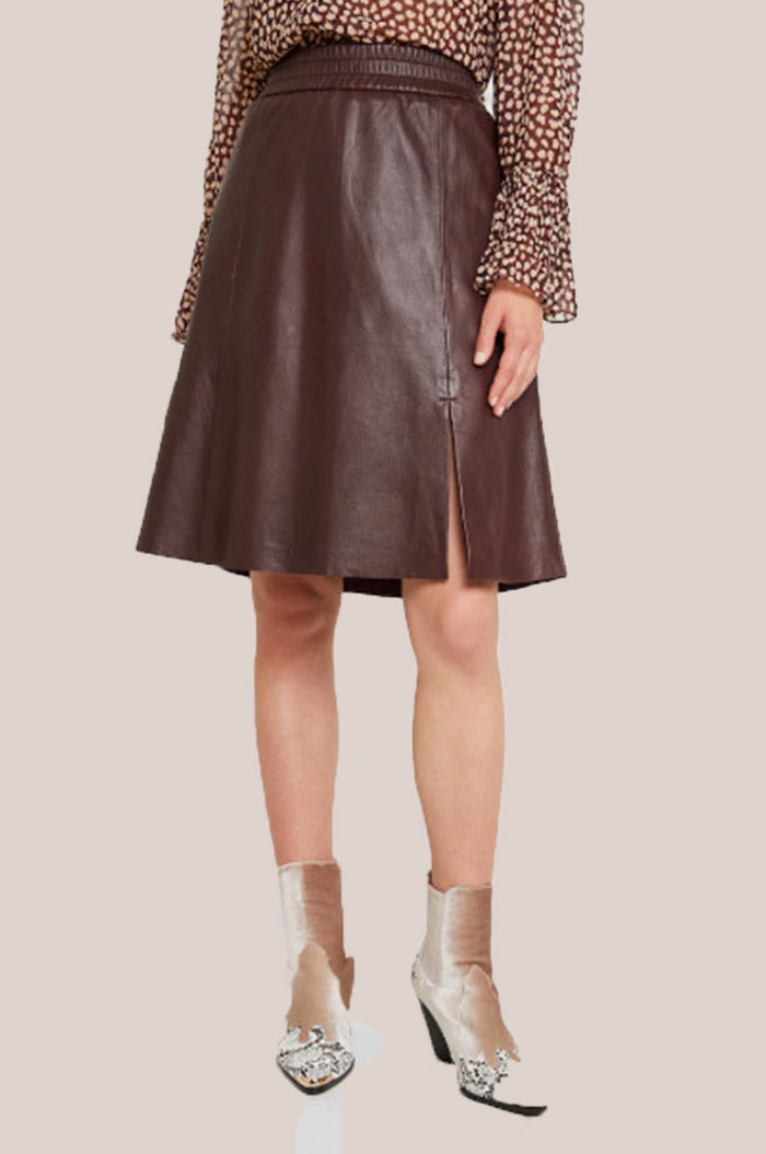 Melvin Leather Skirt - Port Royale