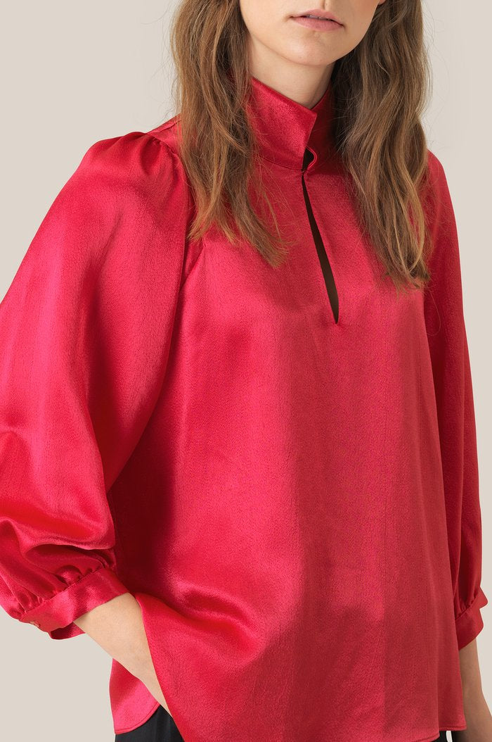 Moonlight Blouse - Rose Red