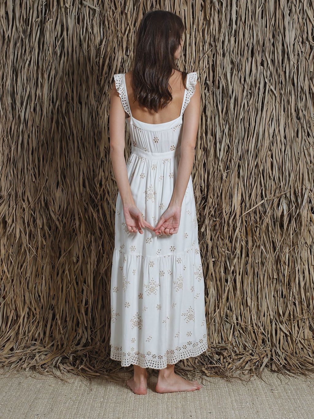 Vestido - Embroidered Crudo