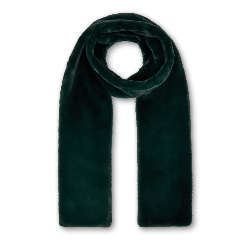 Anna Double Layer Scarf - Forest Green