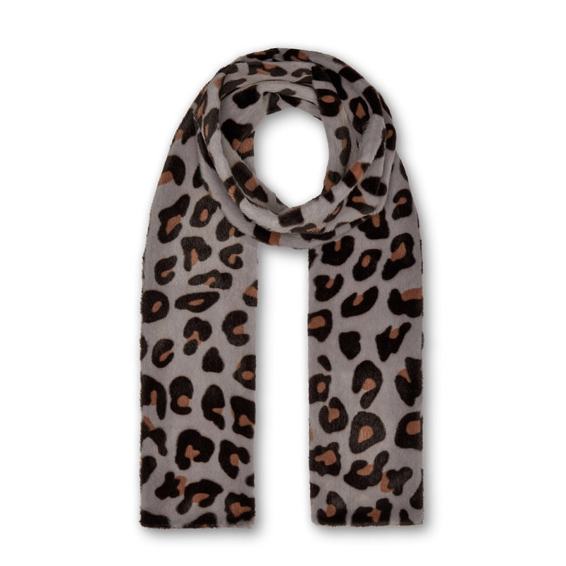 Ari Double Layer Scarf - Blue Leopard