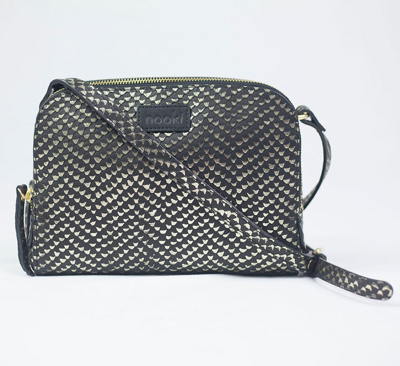 SABINA CROSS BODY BAG - GOLD SNAKE