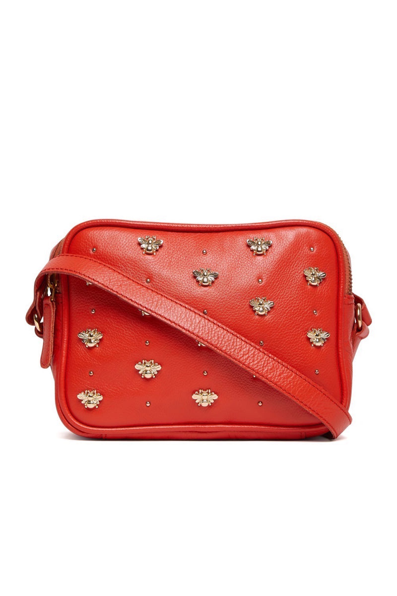 Nixie Bee Stud Cross Body - Spiced Orange