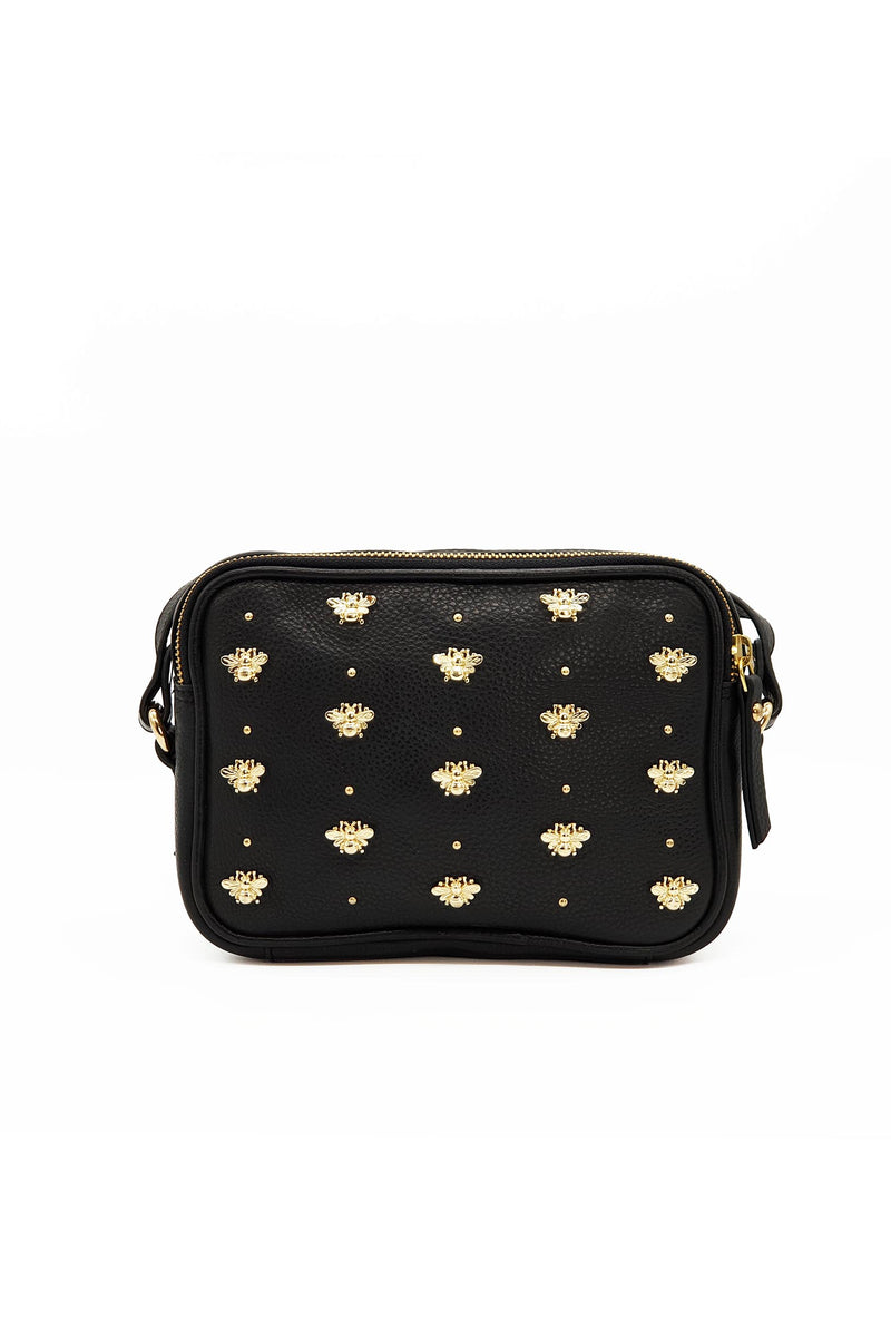 Nixie Bee Stud Cross Body - Black