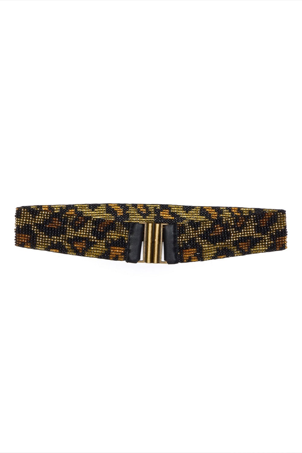 Leopard Beaded Belt