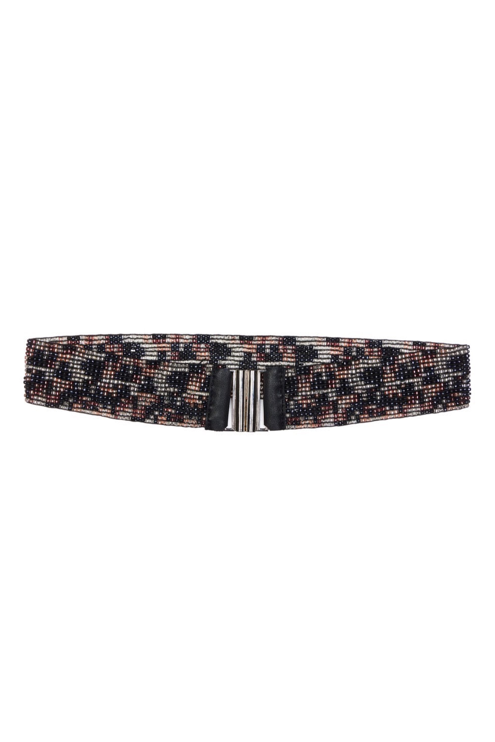 Pastel-Leopard Beaded Belt