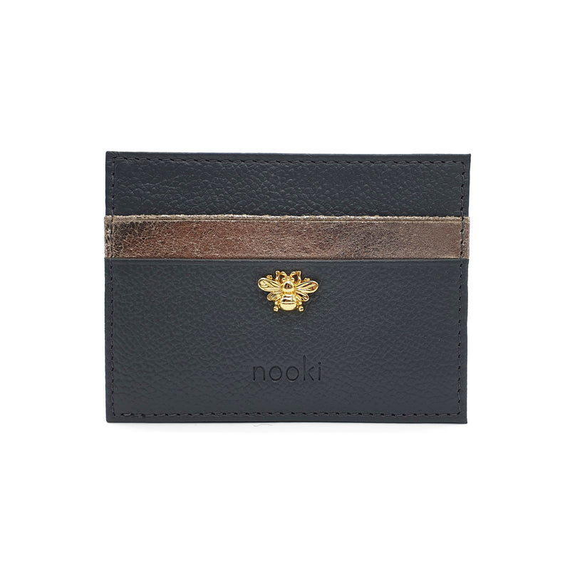 Bee Stud Cardholder - Grey