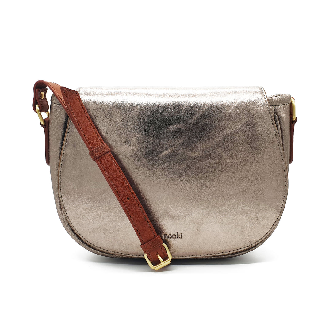 Janica Metallic Satchel - Gold